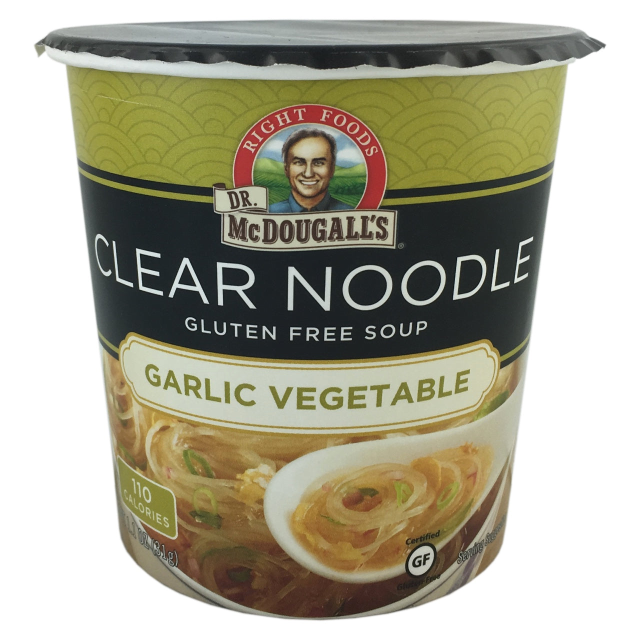 Dr McDougall Garlic Vegetable Clear Noodle Soup