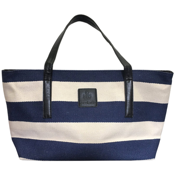 Ecolade Handbag -Blue & White Stripe