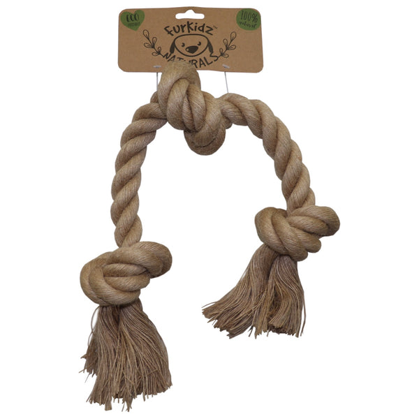 Furkidz Naturals Triple Knot Rope Toy -58cm