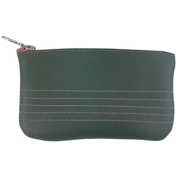 Vegan Wares Coin Purse -Green & Red