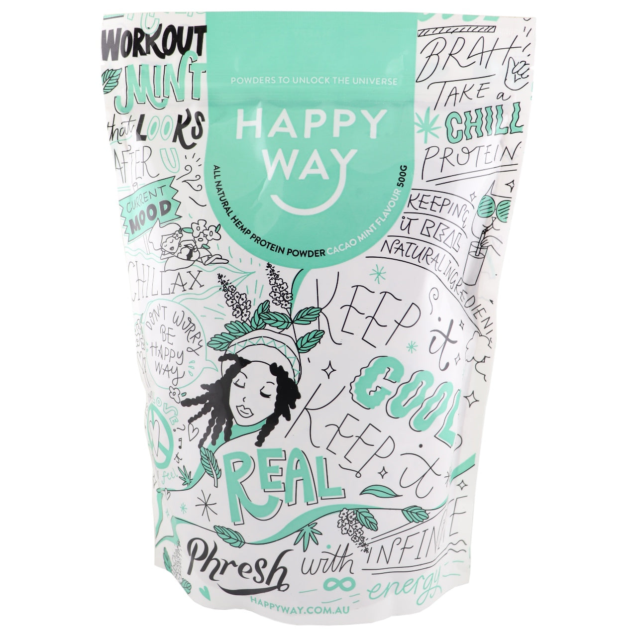 Happy Way Cacao Mint Hemp Protein