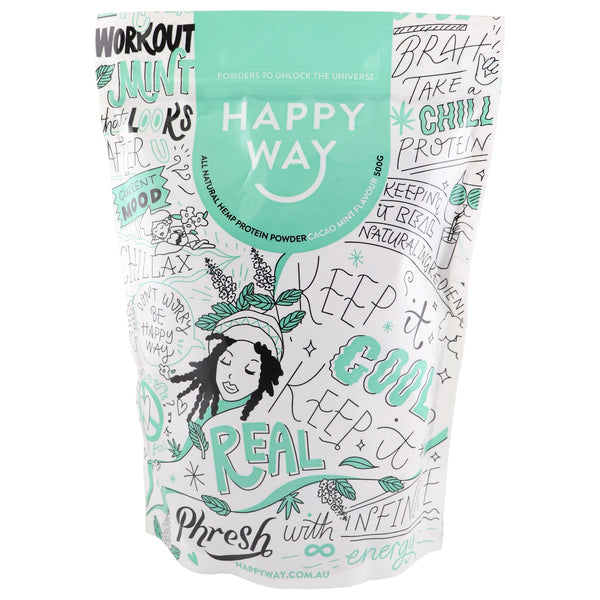 Happy Way Hemp Protein Powder -Cacao Mint