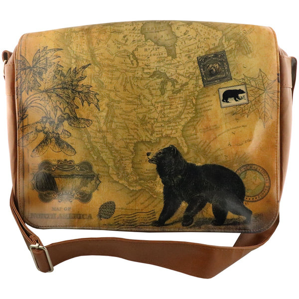 Lavishy Viaggio Large Messenger Bag -Bear