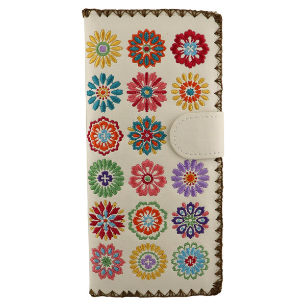 Lavishy Elma Embroidered Large Wallet -Spring Flowers