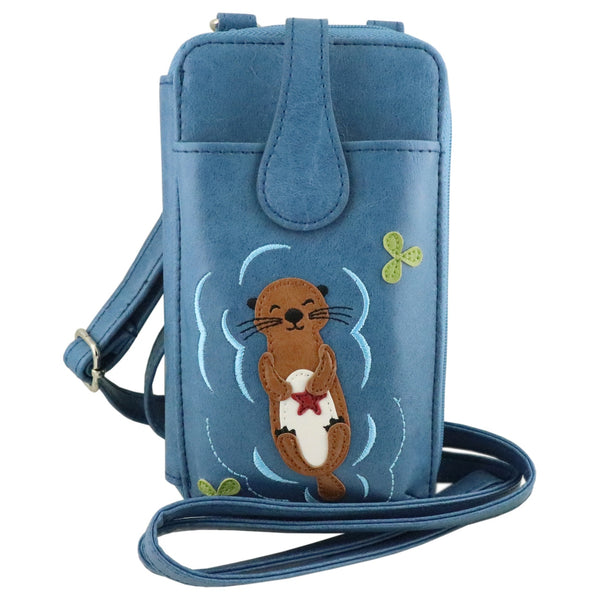 Lavishy Adora Phone Wallet -Seaotter with Starfish Applique