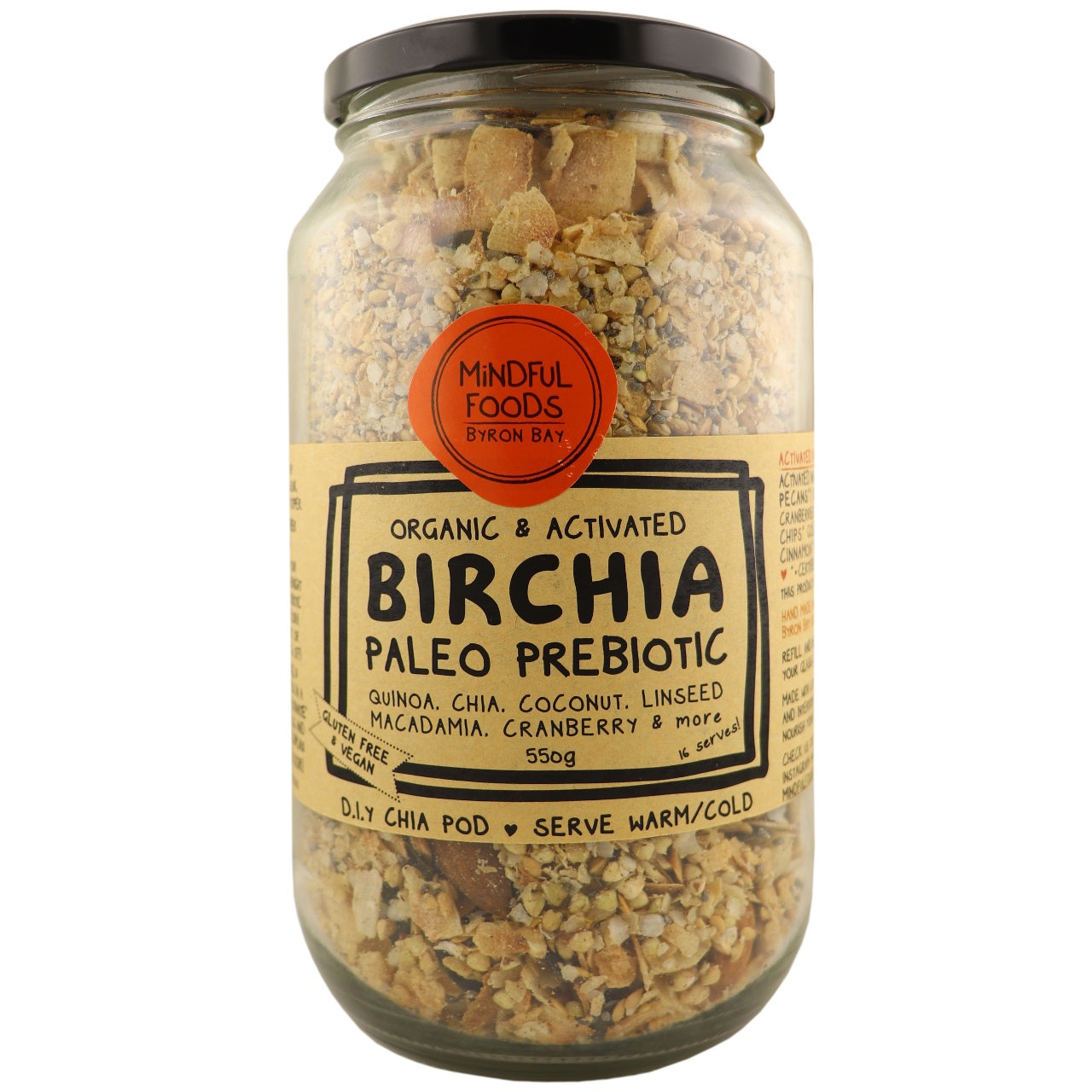 Mindful Foods Birchia Paleo Prebiotic Granola