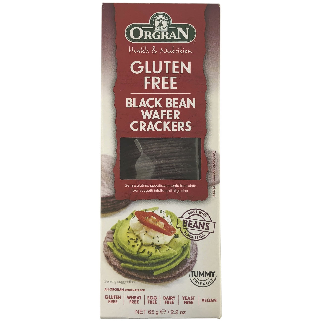 Orgran Black Bean Wafer Crackers