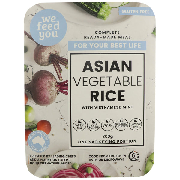 We Feed You Ready Made Meal -Asian Vegetables with Brown Rice & Vietnamese Mint