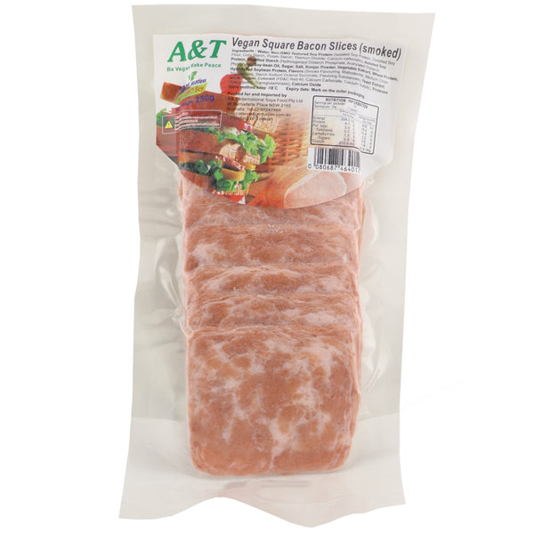 A & T Vegan Smoked Bacon Square Slices