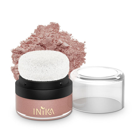 Inika Mineral Blush Puff Pot -Pink Petal (Discontinued Shade)