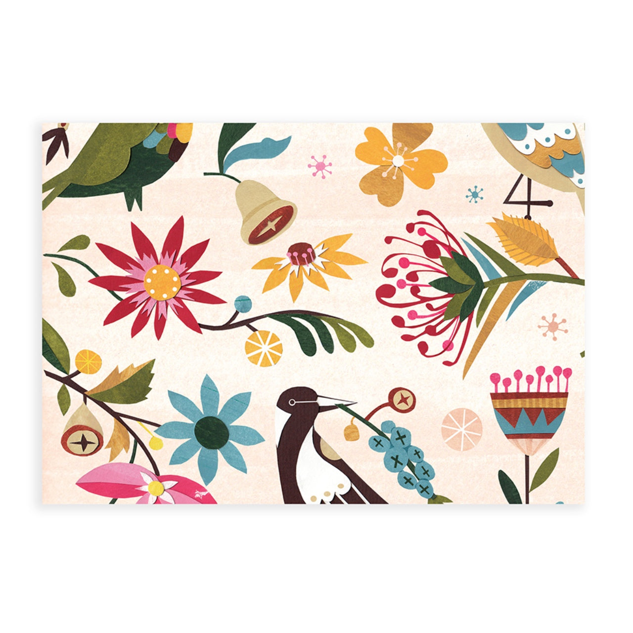 Earth Greetings Wrap -Birds & Blooms