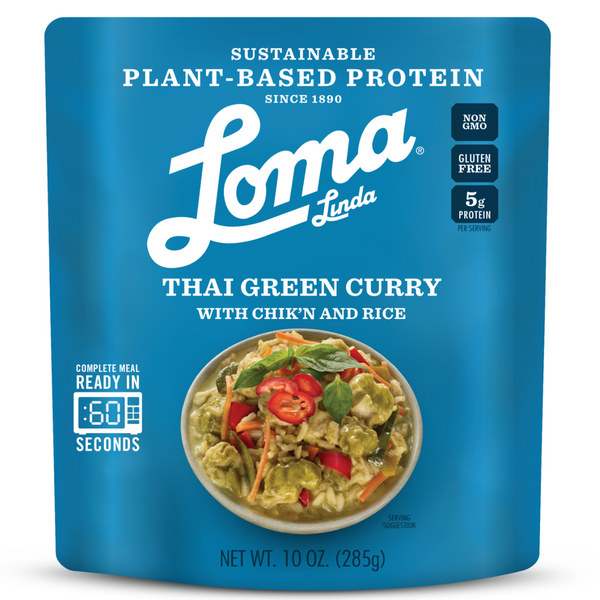 Loma Linda Thai Green Curry with Chik'n Rice