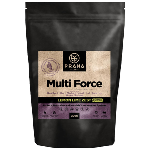 DISCONTINUED Prana Multi Force Lemon Lime Zest 200g - Best Before September 2019