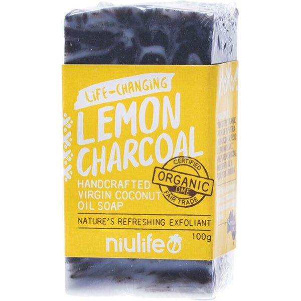 Niulife Coconut Oil Soap -Lemon Charcoal