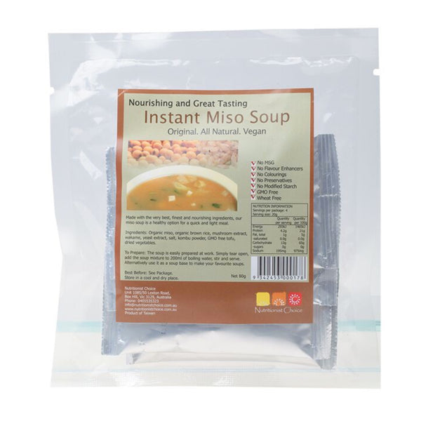 Nutritionist Choice Instant Miso Soup -Pack of 4 sachets