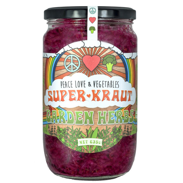 Peace Love & Vegetables Superkraut -Garden Herbs