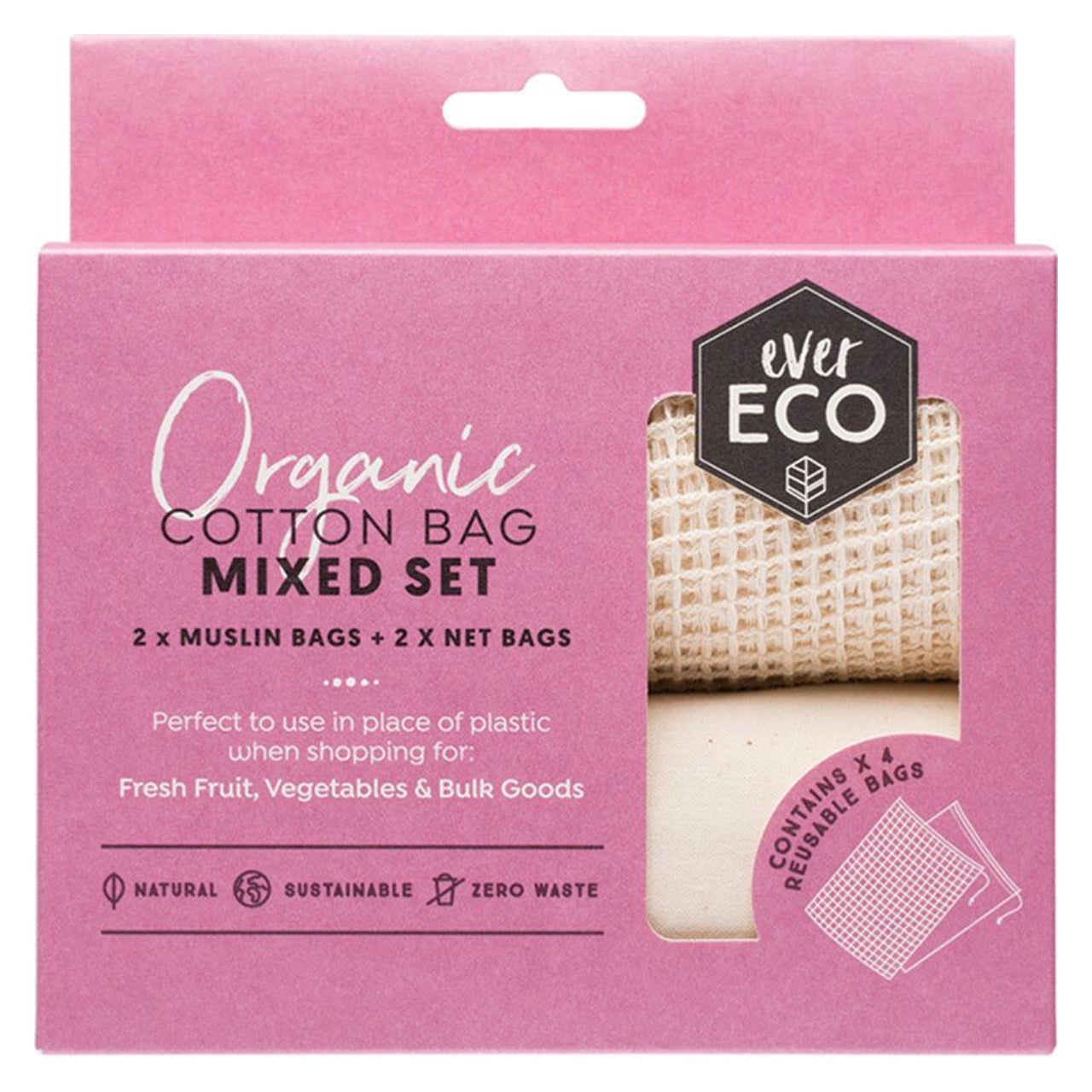 Ever Eco Reusable Produce Bags Mixed Set -4 Pack