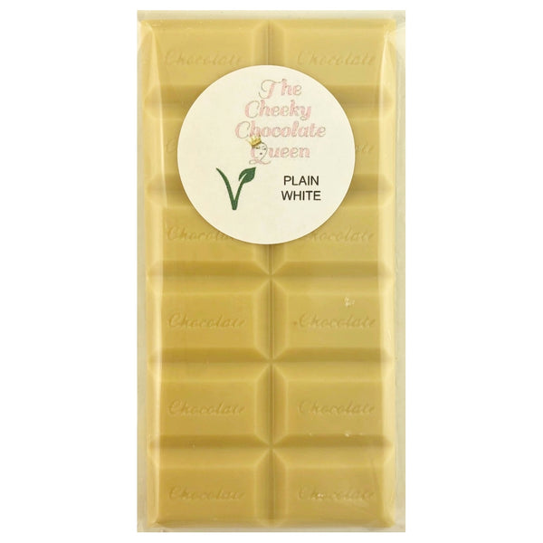 The Cheeky Chocolate Queen White Block -Plain