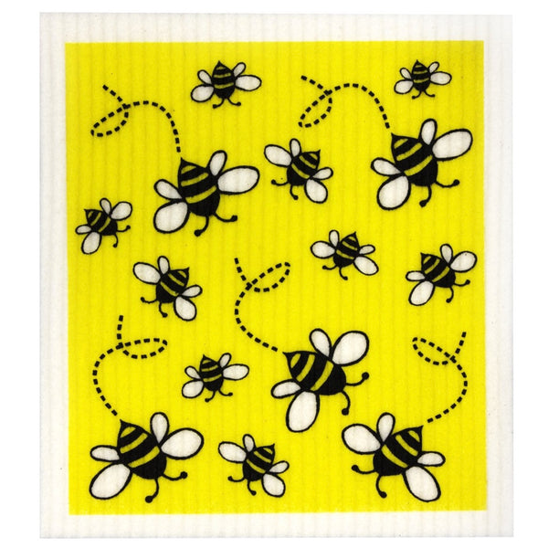 Retro Kitchen Biodegradable Dish Cloth - Bees