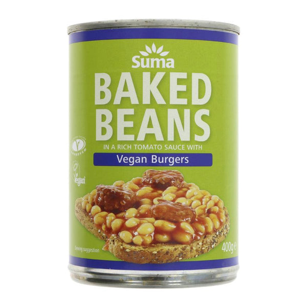 Suma Baked Beans with Burgers