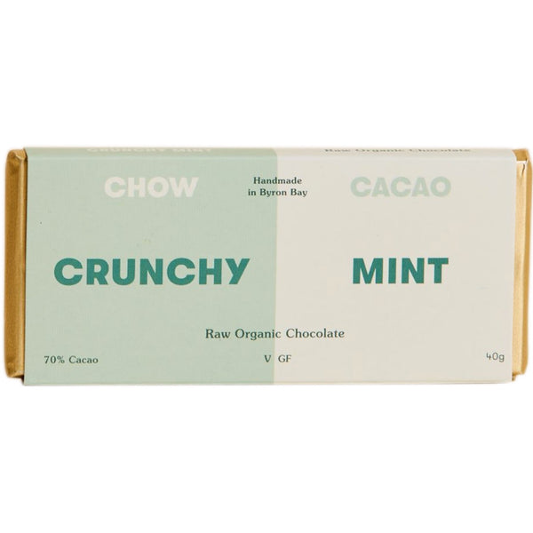 Chow Cacao Raw Organic Chocolate -Crunchy Mint