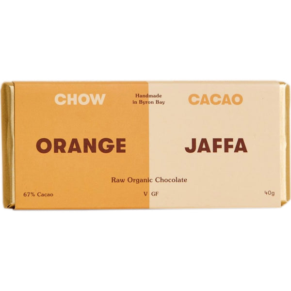 Chow Cacao Raw Organic Chocolate -Orange Jaffa