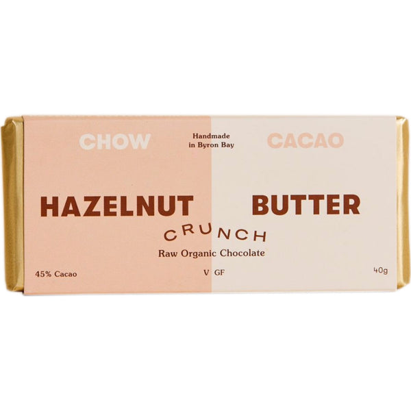 Chow Cacao Raw Organic Chocolate -Hazelnut Butter Crunch