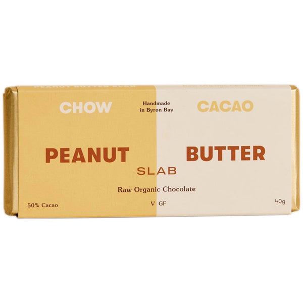 Chow Cacao Raw Organic Chocolate -Peanut Butter Slab