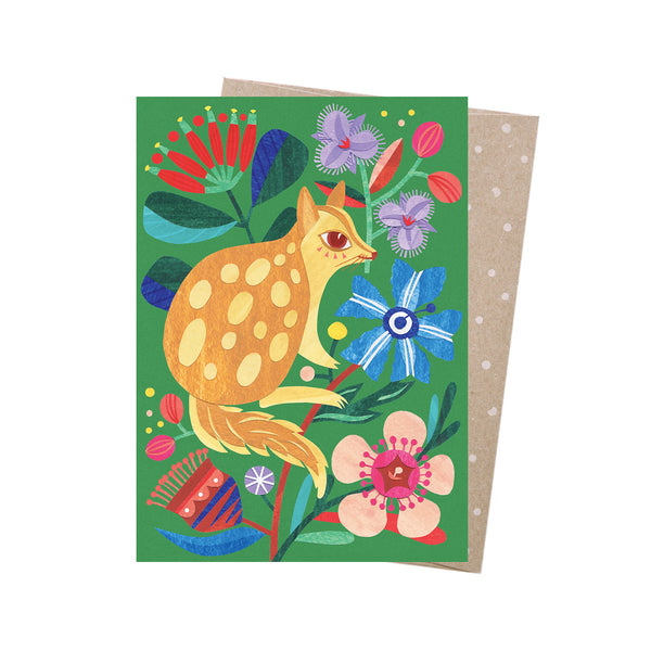 Earth Greetings Card -Spotted Quoll