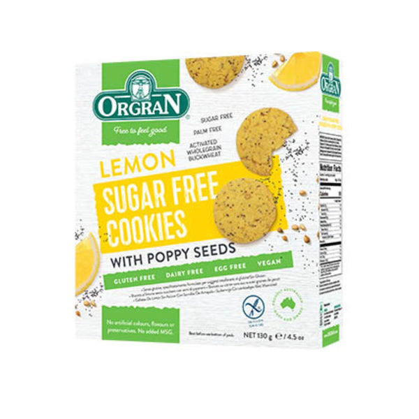 Orgran Lemon Sugar Free Cookies
