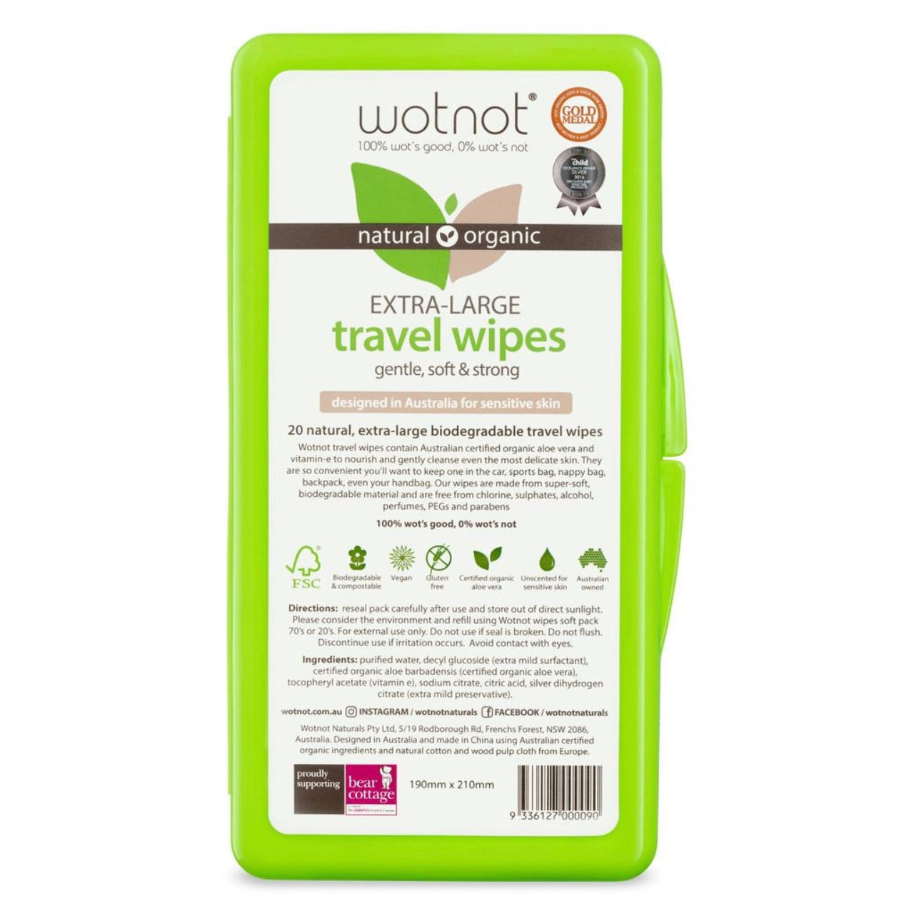 Wotnot Extra Large Travel Wipes