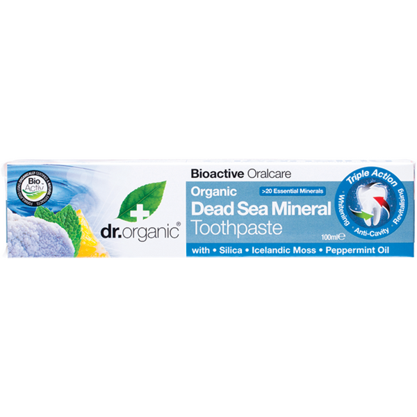 Dr Organic Toothpaste -Dead Sea Mineral