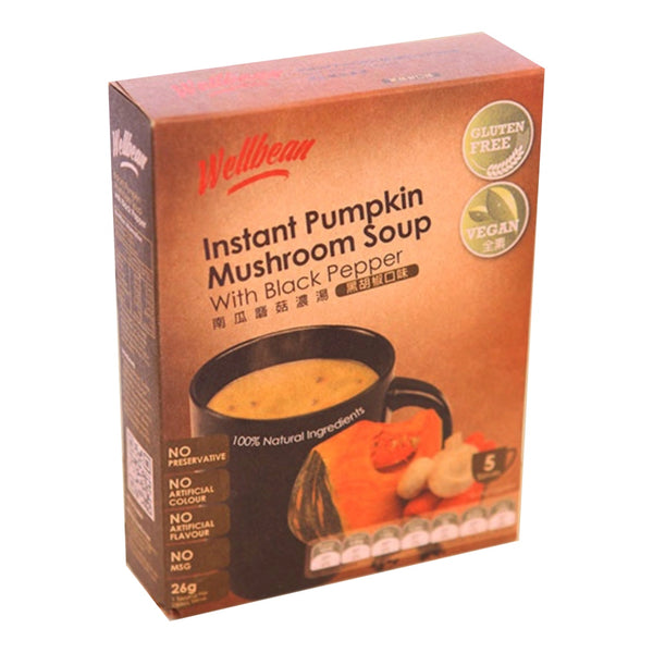 Wellbean Instant Black Pepper Mushroom Pumpkin Soup