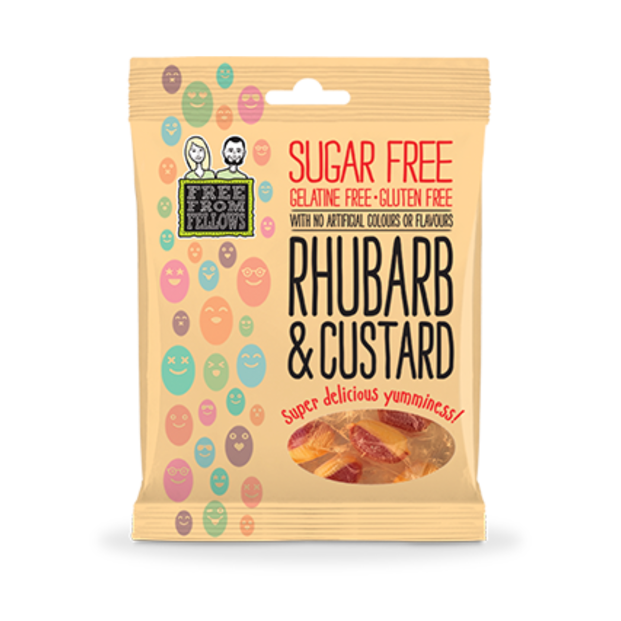Free From Fellows Sugar Free Rhubarb & Custard