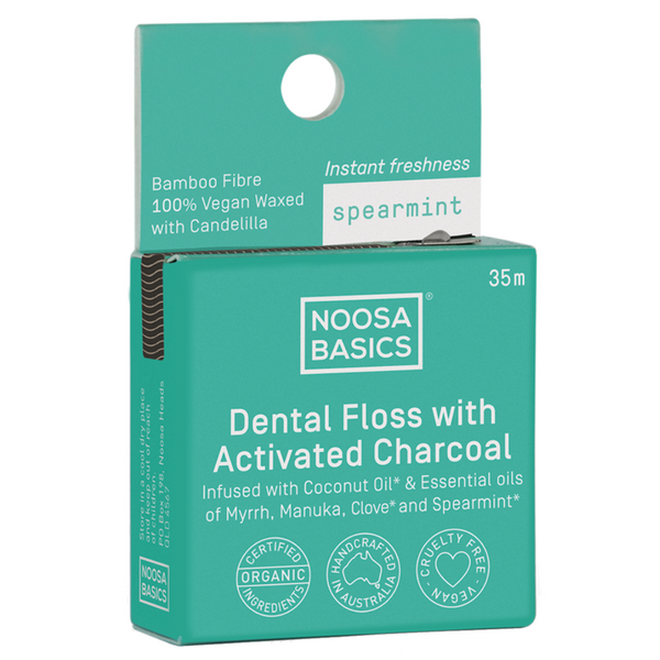Noosa Basics Dental Floss with Bamboo Charcoal - Spearmint