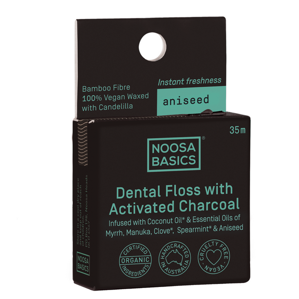 Noosa Basics Dental Floss with Bamboo Charcoal - Aniseed