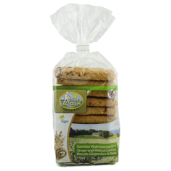 Billy's Farm Organic Spelt Ginger and Walnut Cookies -Best Before 9th February 2019