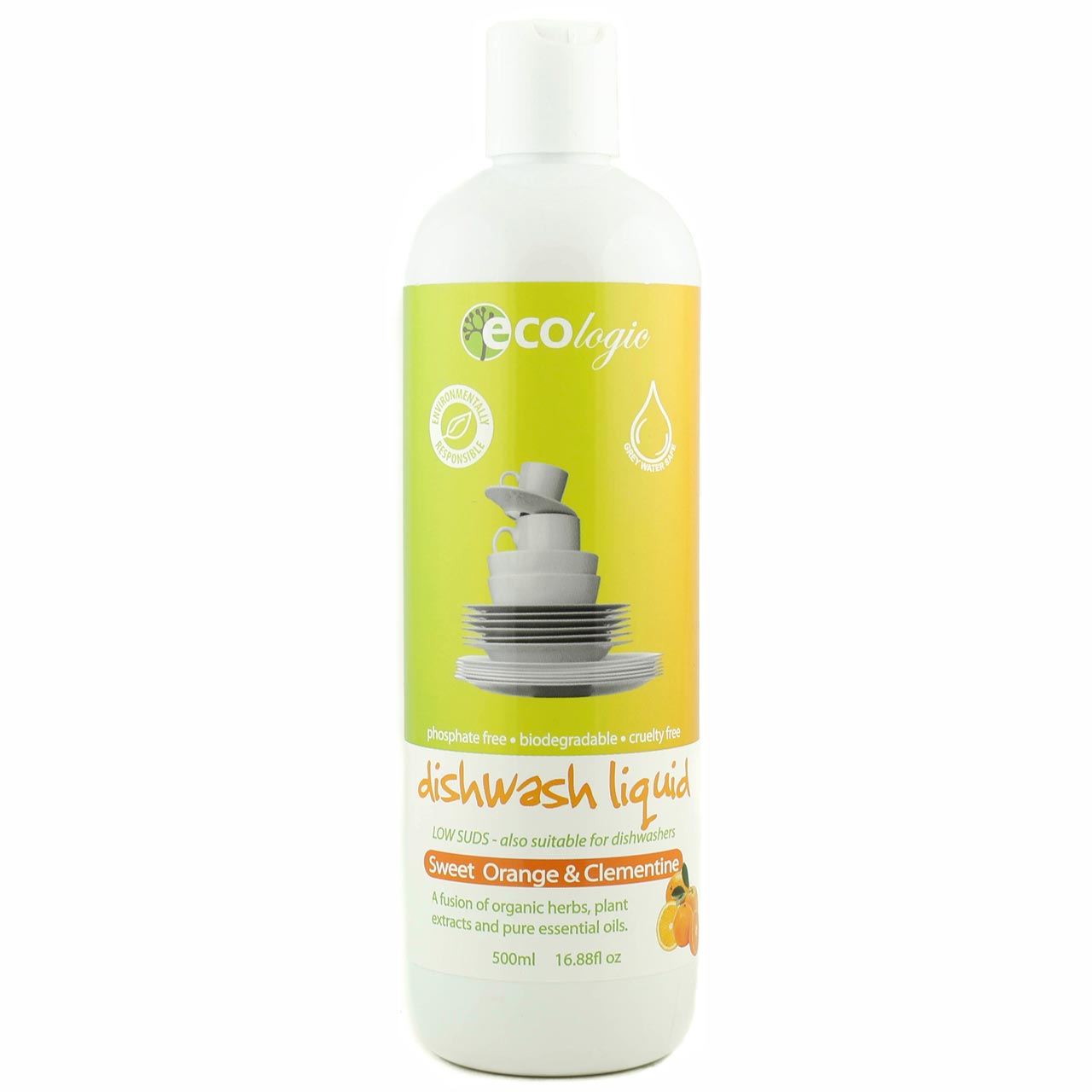 Ecologic Dishwash Liquid - Sweet Orange and Clementine