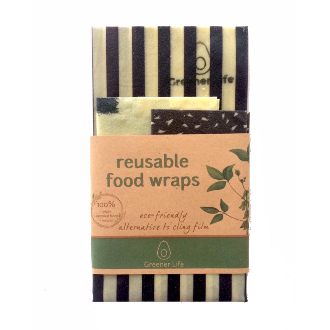 Greener Life Reusable Food Wrap 3 pack