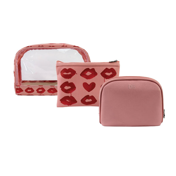 DB Cosmetics Cosmetic Bag Trio -Kiss Me Quick