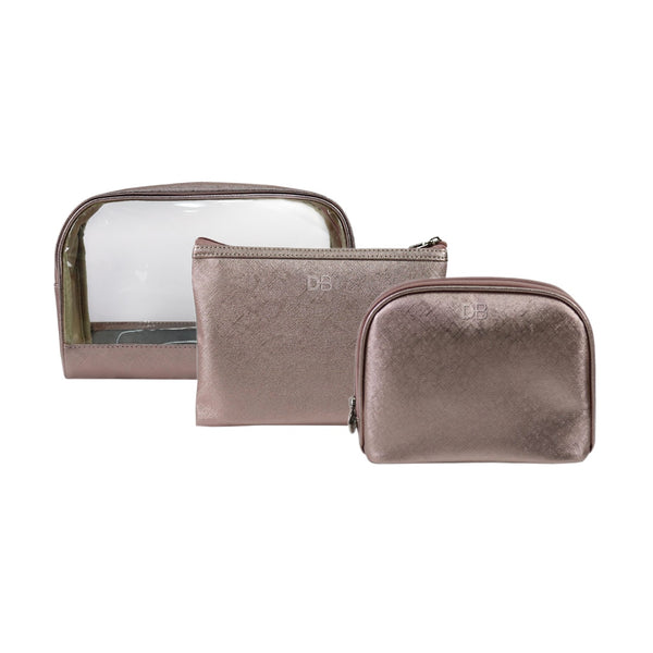 DB Cosmetics Cosmetic Bag Trio -Champagne Dreams