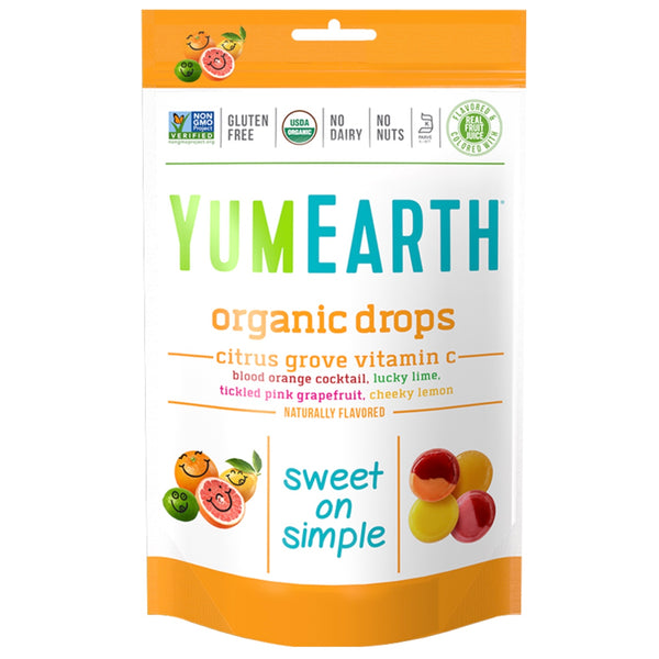 Yum Earth Organic Drops Bag -Vitamin C Citrus Grove