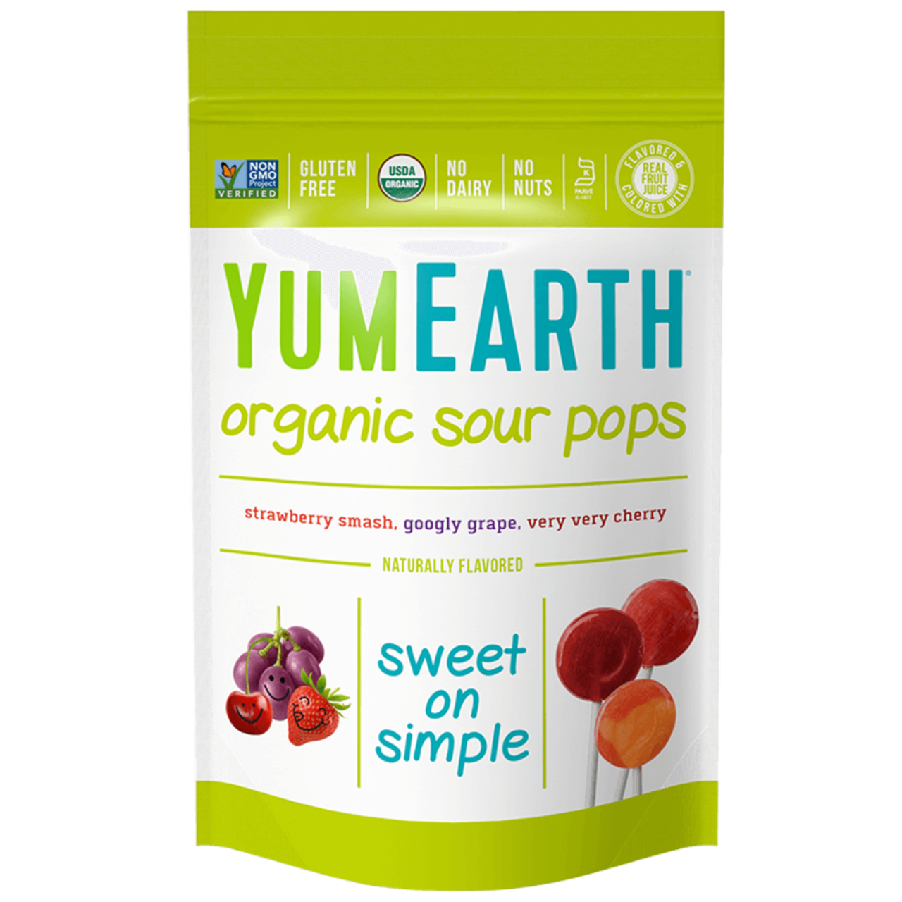 Yum Earth Organic Sour Lollipops