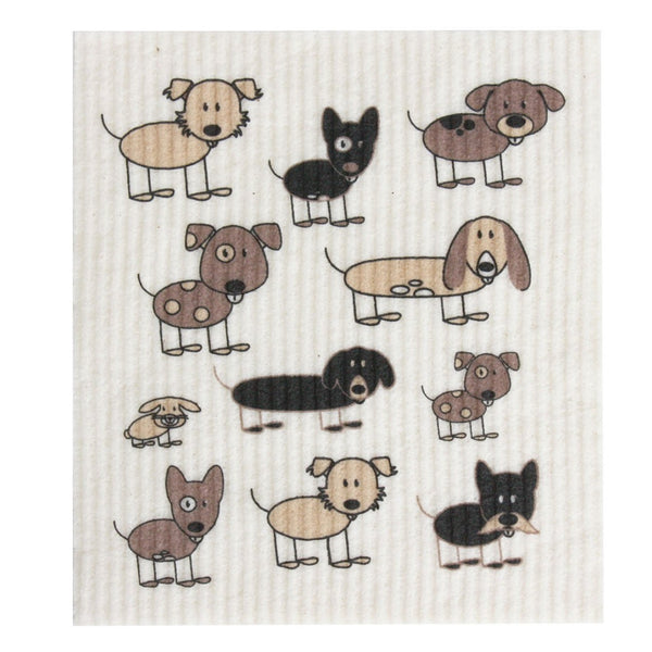 Retro Kitchen Biodegradable Dish Cloth - Dogs