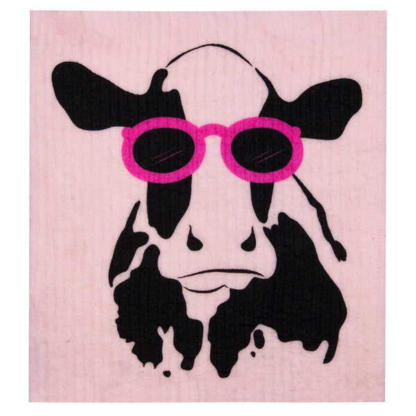 Retro Kitchen Biodegradable Dish Cloth - Cow