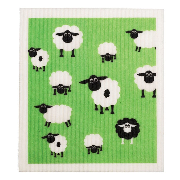 Retro Kitchen Biodegradable Dish Cloth - Sheep