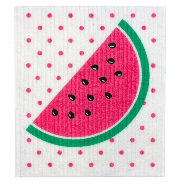 Retro Kitchen Biodegradable Dish Cloth - Watermelon