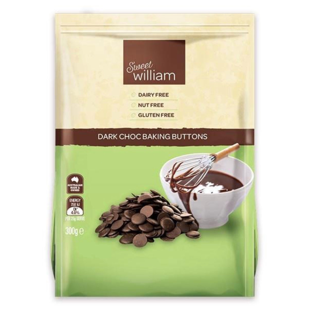 Sweet William Chocolate Baking Buttons