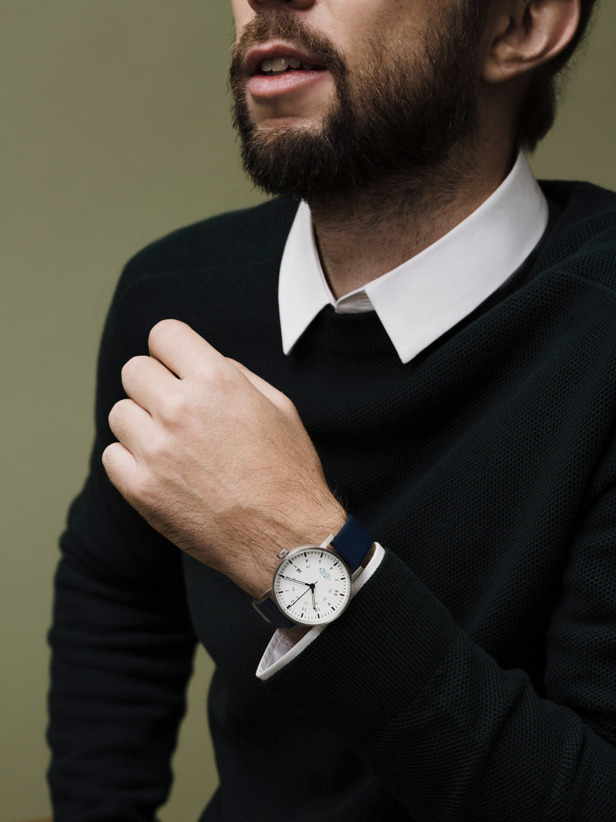 The Limited Edition railway Stockholm watch designed by Swedish designer David Ericsson. V03D-STHLM.