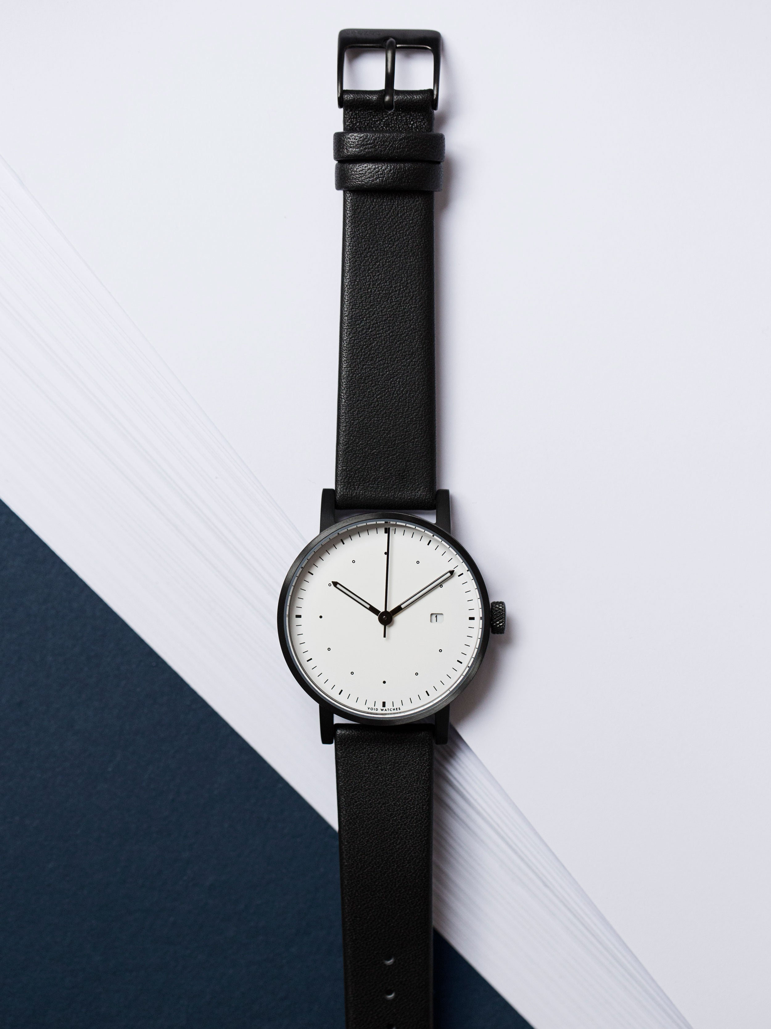 The Limited Edition Dezeen watch by VOID Watches. Designed by David Ericsson and Patrick Kim Gustafson. V03D-Dezeen.